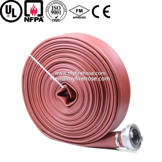 2 Inch Ageing Resistance of Nitrile Rubber Canvas Cotton Fire Hose Price pictures & photos
