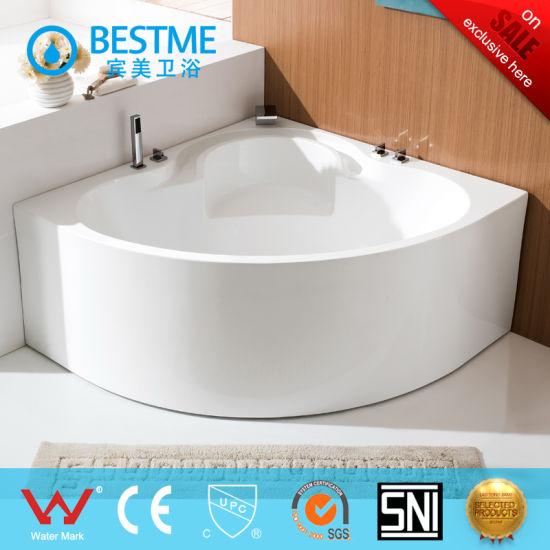 Corner Simple Art Acrylic Bathtub With Seat (BT Y2598)
