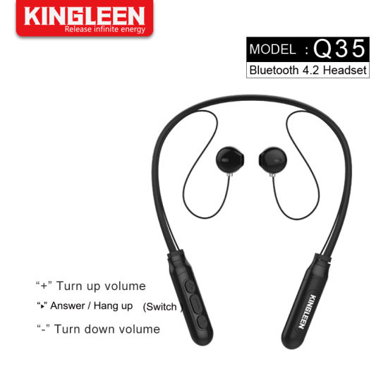China Mobile Phone Bluetooth Headphone Wireless Neckband Headset Stereo Noise Cancelling Earbuds With Mic China Bluetooth Headset And Bluetooth Stereo Headset Price