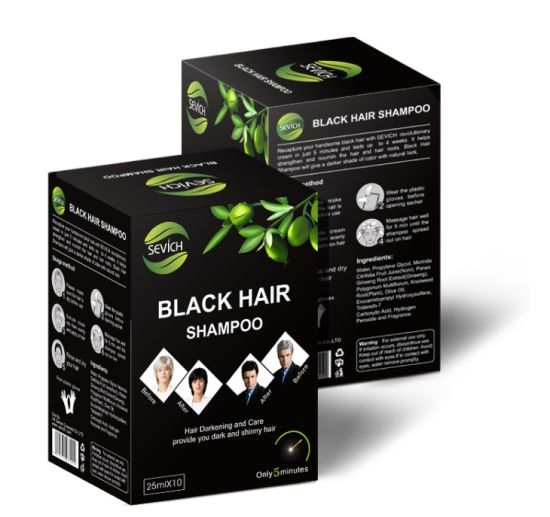 100% Magic Instant Black Natural Color Blackening Hair Dye Shampoo pictures & photos