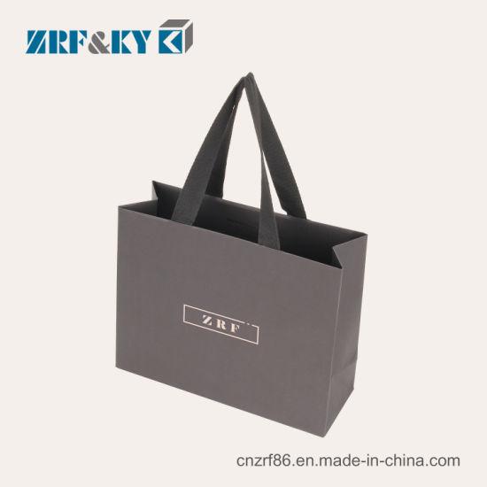 fc7c91794 ... Paper Gift Bags. Custom Printed Hot Stamping Fashion Black White Brown  Cardboard Coated Kraft