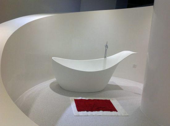 China Guangzhou Gelandy Best Selling Acrylic Solid Surface Bathtub
