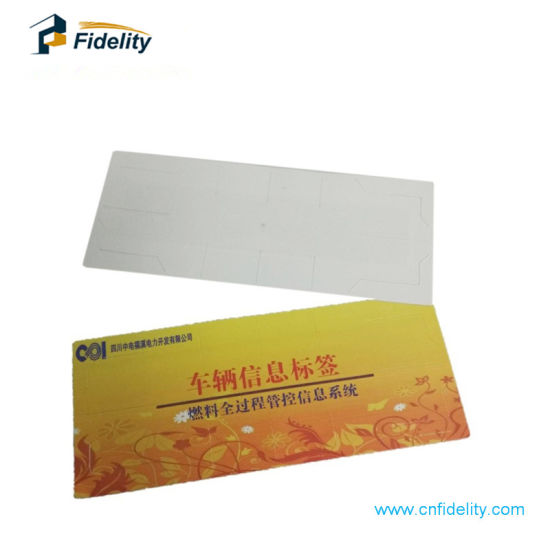 Pet PVC Paper Anti Theft Tamper-Proof UHF RFID Windshield Tags