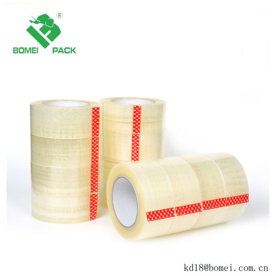 China Transparent Adhesive Carton Packing BOPP Tape with Logo