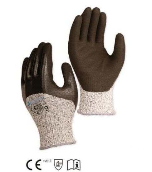 Sandy Nitrile Half Coating Cut Resistant Labor and Work Glove