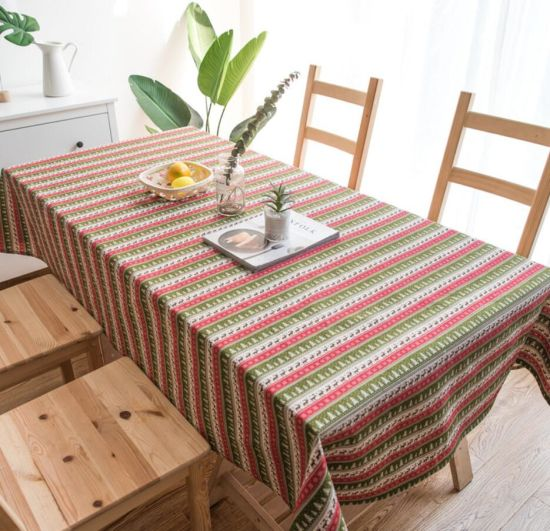 Printed Christmas Style Deer and Snow Dining Table Cloth