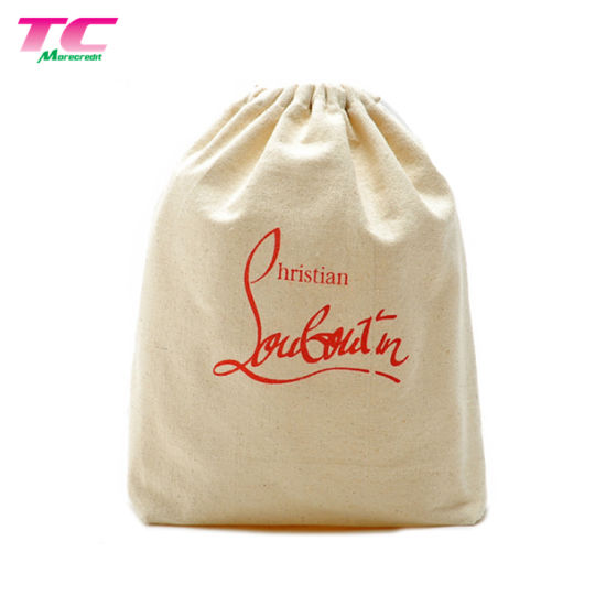 Wholesale Promotional Cotton Fabric Baseball Drawstring Shopping Bag pictures & photos