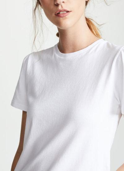 bc2ade4929f China Hot Arrive Womens Fashion White Plain T-Shirts - China T Shirt ...