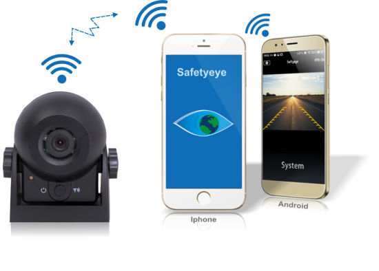 Connecting Your Phone-WiFi Reverse Camera with Inside Rechargeable Baterry & 12 PCS IR LED