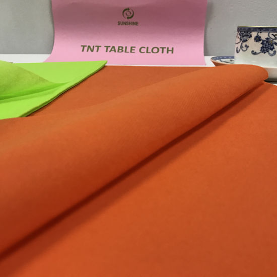 Pre-Cuted Spunbond Nonwoven Table Cloth Fabric pictures & photos