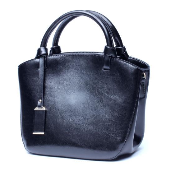 New Design Retro Style Oil Wax Leather Women Hand Bag