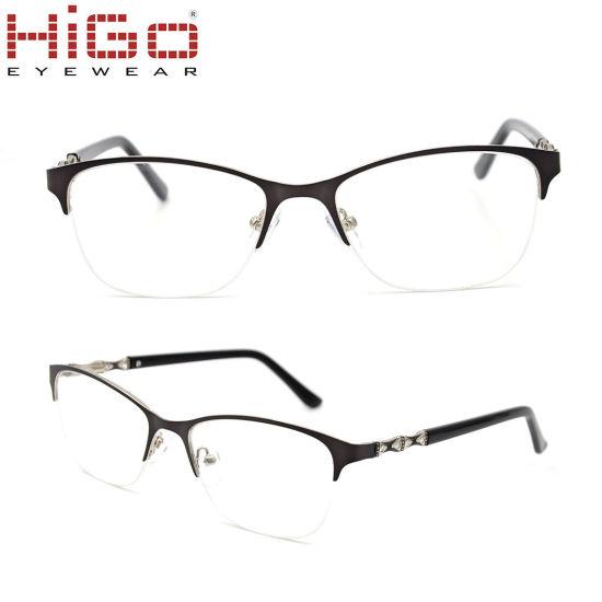 China Metal Eyeglasses Spectacles Frames Only Stock Italian Eyewear ...