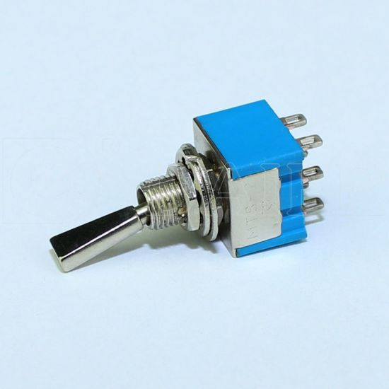 6pin Miniature Toggle Switch with Metal Flat Handle (MTS-202-F1) pictures & photos