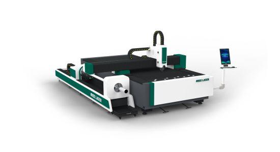 1kw Raycus IPG dual use CNC iron stainless aluminum metal sheet pipe tube fiber laser cutting machine