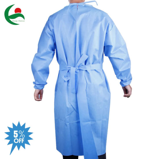 Disposable Civil Safety Waterproof Coverall Isolation Gowns 50GSM Microporous