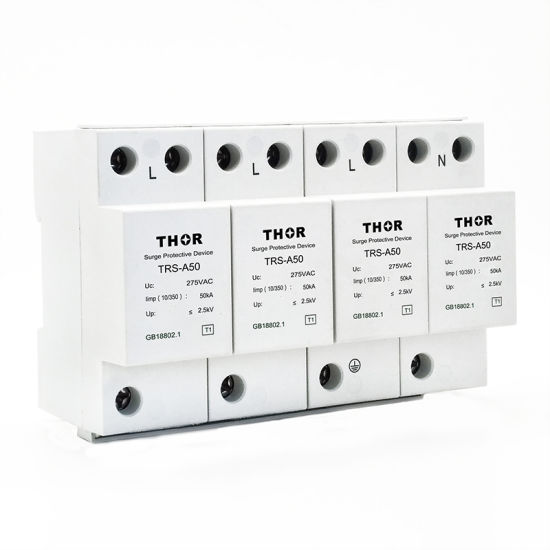 Power Surge Protector SPD Lightning Arrester 60ka Surge Absorber pictures & photos