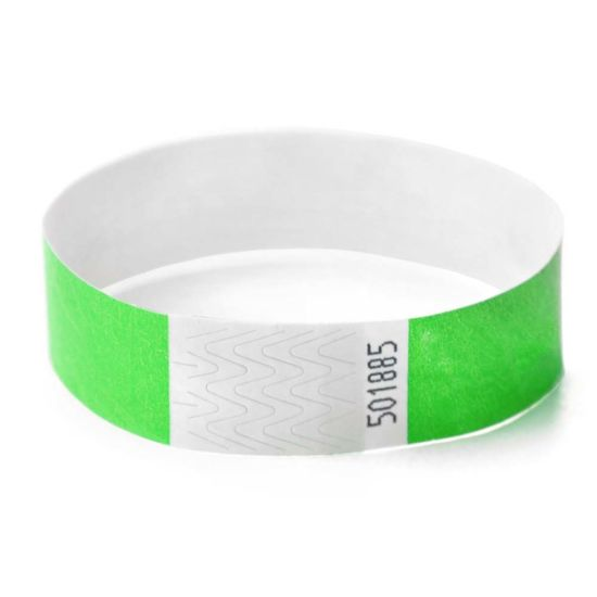 One Time Use Hf RFID Paper Wristbands 13.56MHz Tags for Event pictures & photos