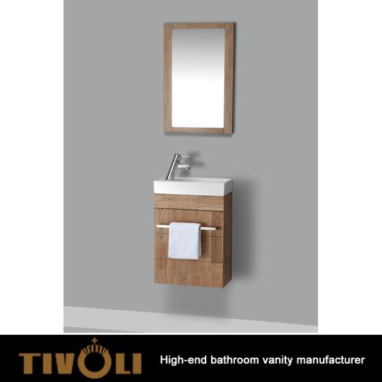 New Design Bathroom Vanity Wooden Cabinet Wall Mounted Mirror Tv 0447
