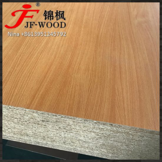Wood Grain Solid Color Both Sides Melamine Particle Board Chipboard