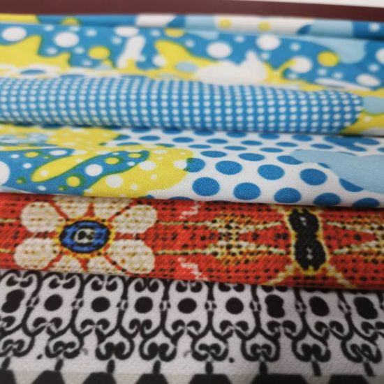 Four Way Stretch Print Polyester Elastance Fabric for Outdoor pictures & photos