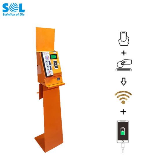 Coin-Operated Hotspot with Cellphone Charging Box Vending Machine