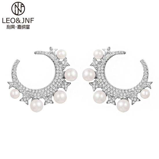 China Wholesale Star Moon Pearl Earrings Fashion Earrings High