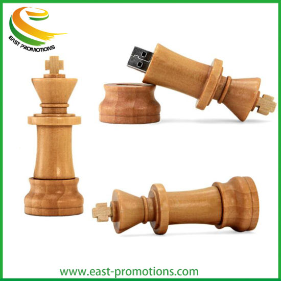 Wood Chess USB Memory Stick Promotional Pen USB Flash Drive with Logo Printed