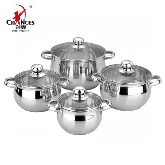 8PCS Customized Stainless Steel Cookware Set