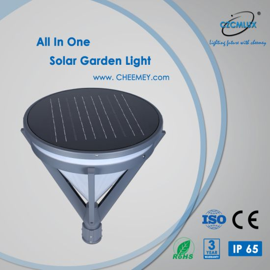 Outdoor LED Solar Power Garden Post Light with Lithium Battery