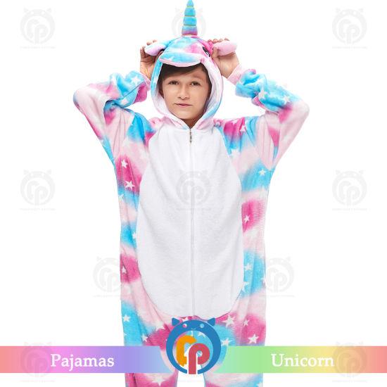 Wholesale Pajamas Cartoon Character Costumes Flannel Children Costume