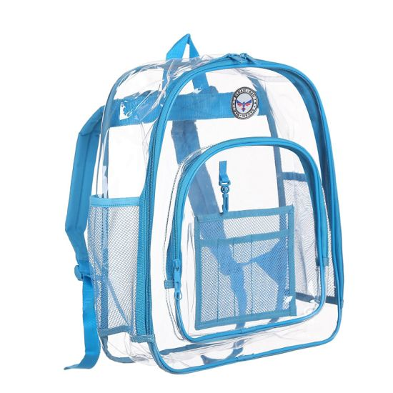 Waterproof Transparent Lucid Outdoor Sports Leisure Casual Travel PVC Double Shoulder Beach Bag Pack Backpack (CY3641)