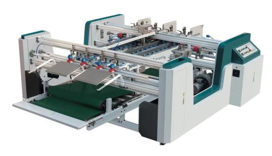 Mh-2300L Semi-Automatic Double Pieces Gluer Machine (Servo Control)