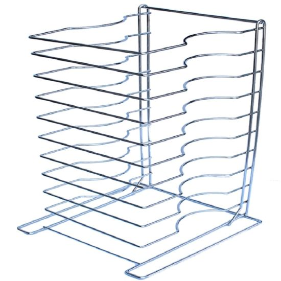 15 Shelves Chrome Plated Steel Wire Pizza Screen Tray Rack pictures & photos