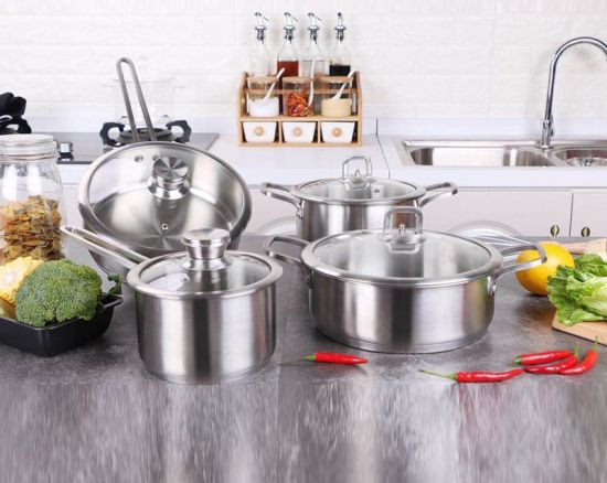4 Pieces Stainless Steel Cookware Set with High Quality