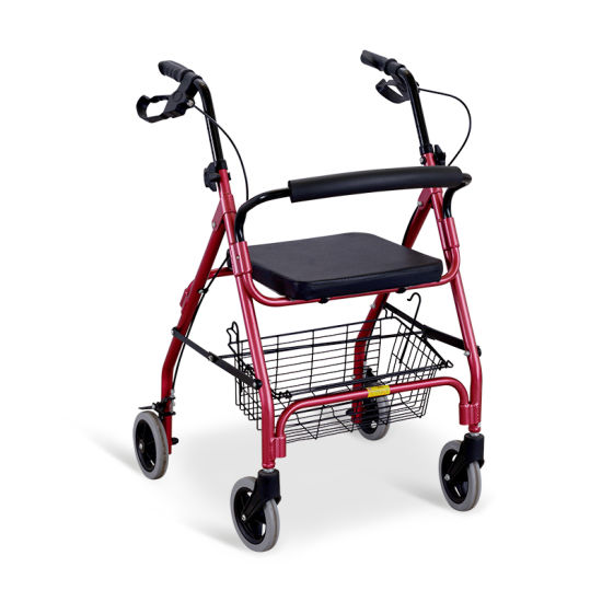 Ske220 Economic Hospital Metal Rollator with Basket pictures & photos