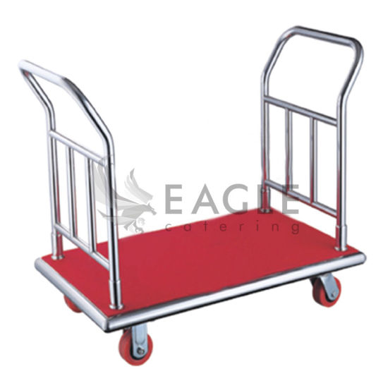 Folded Stainless Steel Hotel Lightweight Luggage Cart