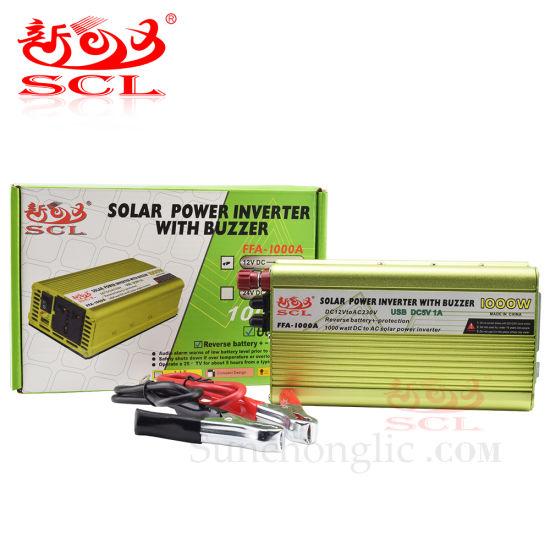 Sunchonglic 1000W Power Inverter 12V DC to 220V AC Inverter Solar off Grid Inverter