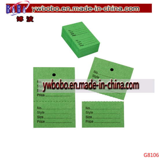 Party Goods Garment Clothing Tickets Price Stock Tags Tagging (G8106)