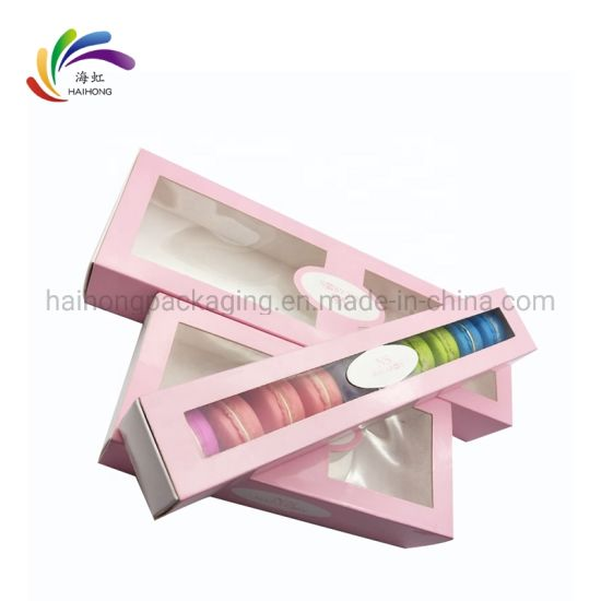 Food Grade White Card Paper Gift Box for Macarons pictures & photos