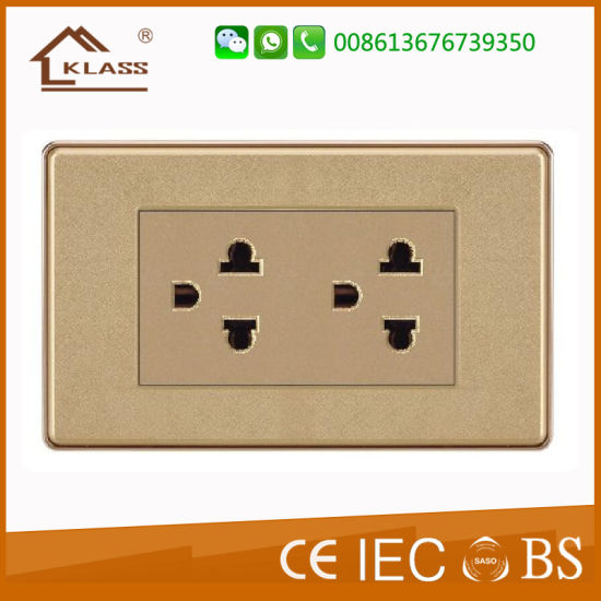 Thailand Double Gang Socket Electrical American