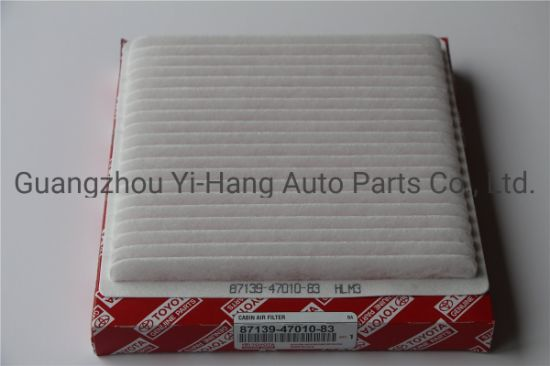 Auto Spare Part Cabin Filter Manufacturer 87139-47010-83 for Toyota