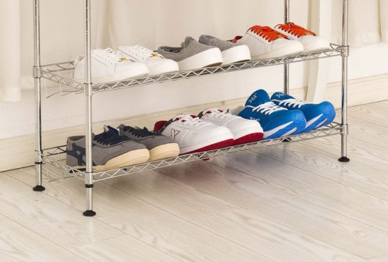 China Supplier Best Price Chrome Plated Metal Shoe Rack Cabinet for Home Use pictures & photos