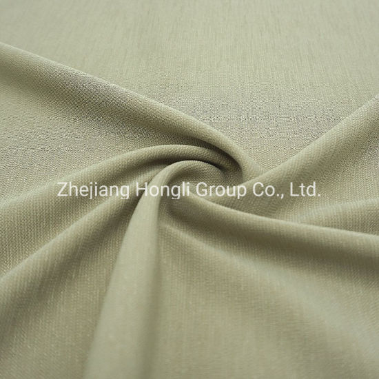 36%Polyester 57%Polyester Doris 7%Spandex Soft Handle Knitted Fabric