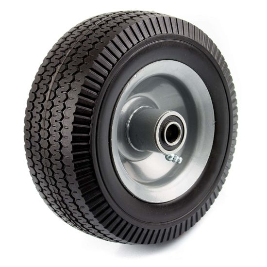 Flat Free Tires Wheels, Solid Wheel for Trailer, Hand Truck, Wheelbarrow, PU Foam Wheel, PU1013