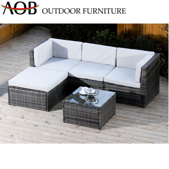 Outdoor Plastic Rattan Coffee Table Patio Storage Ottoman Side Garden Furniture
