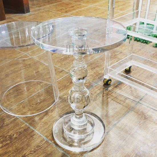Acrylic Coffee Table Gourd Small, Round Acrylic Coffee Table
