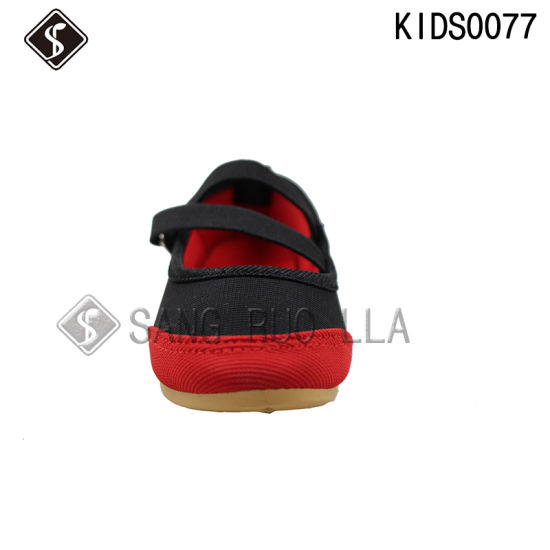Girl Children Sports Walking Canvas Shoes pictures & photos