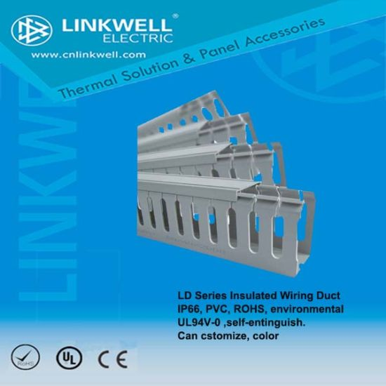 LD Series Insulated Wiring Ductip66, PVC, RoHS, UL94V-0 on insulated roof, insulated pump, insulated connectors, insulated solenoid, insulated cabinets, insulated ducts,