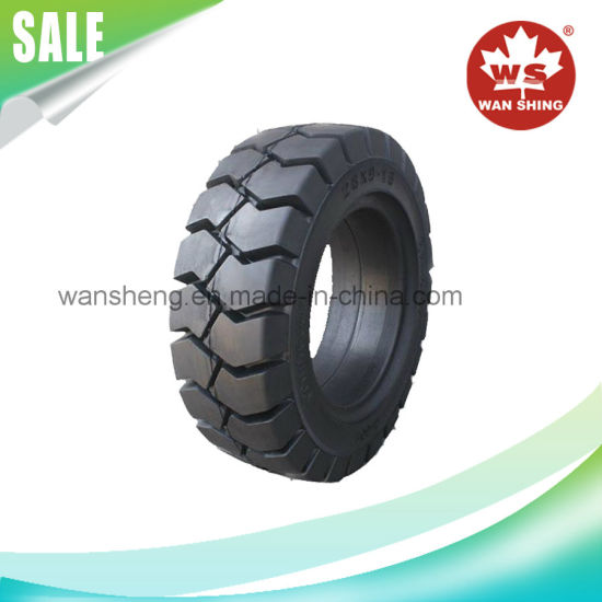 Good Quality Forklift Solid Tyre/Solid Tire with Rim/Forklift Parts pictures & photos