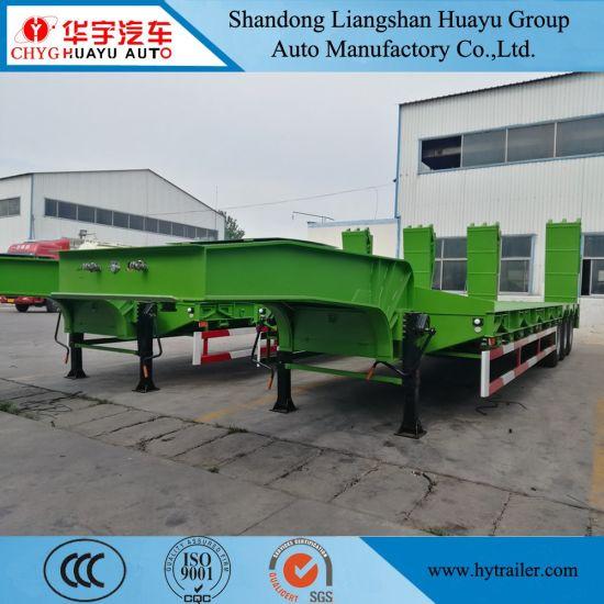 2/3/4 Axle Heavy Duty Low Loader/Lowboy/Low Bed Truck Head Semi Trailer for Heavy Equipment Excavator Transport